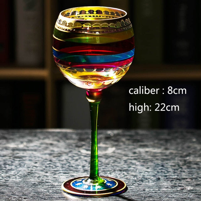 Colored Drawing Wine Glass