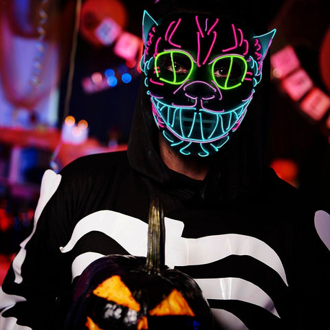 LED MASK Glowing Cat