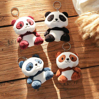 Lovely Panda Plush Toy (10 cm) with key chain ring
