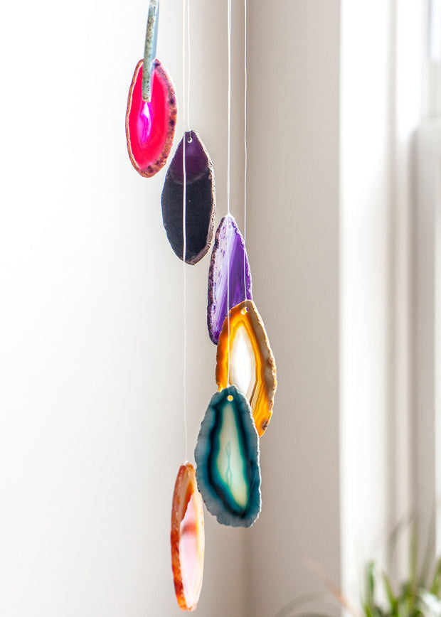 Agate Slices Wind Chimes - Home and Garden Decoration