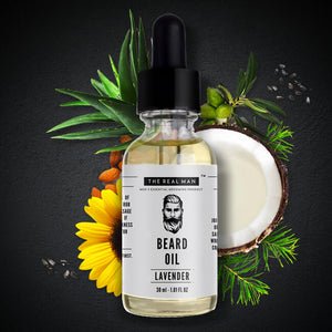 THE REALMAN Men's Essential Grooming Maple Mint Beard Growth Oil, 30 ml