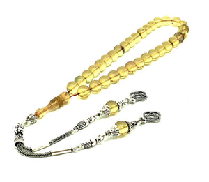 Transparent Amber Prayer Beads Kehribar Tesbih UK