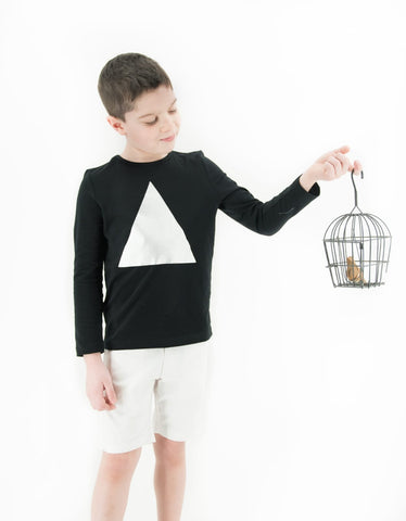 Triangle Tee Long Sleeves