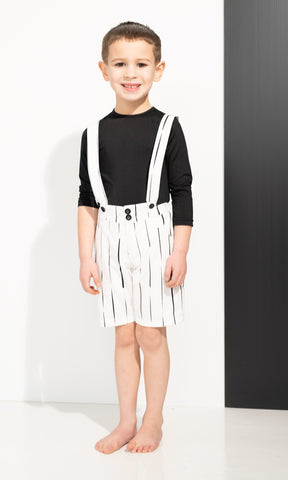 Thin Striped Overalls