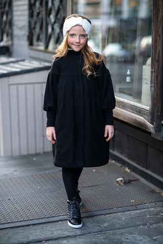 Rib Sleeve Winter Coat