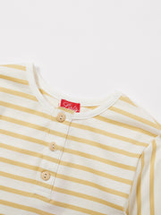 Classic Stripe Long Sleeve Top - Yellow