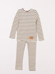 Stripe Lounge 2 Pc. - Black Mix