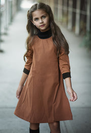 A Line Turtle Neck Dress
