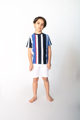 Red Stripe - Nautical Stripe Short Sleeve Top