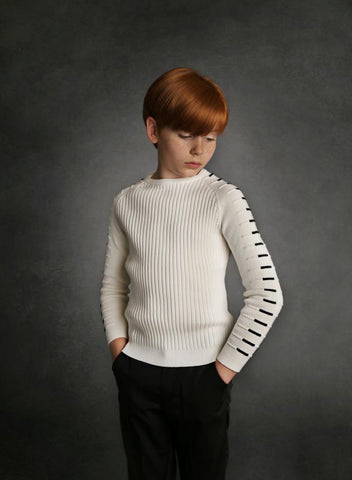 Fresh Ivory Ribbed Sweater