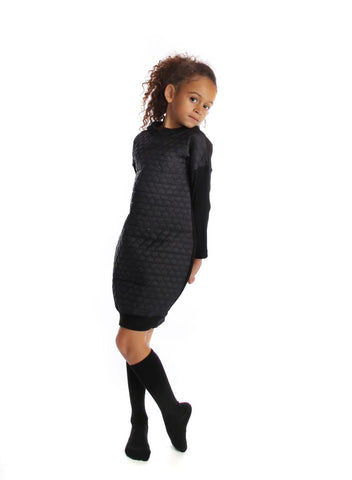 Heart Quilted Hooded Dress