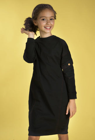 Pocket On Sleeve Sweat Dress
