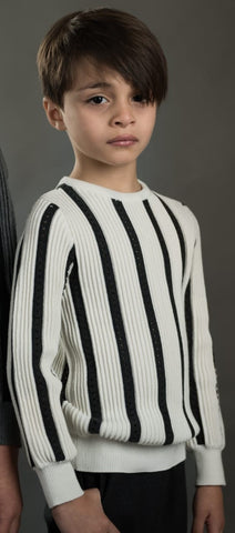 Stripe With Small Holes Sweater
