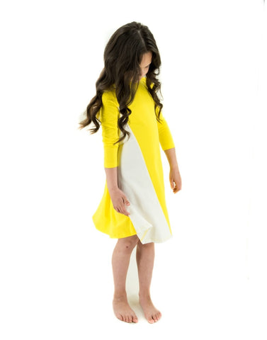 Neon Yellow Flare Dress