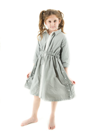 Button Down Dress With Adjustable Waist