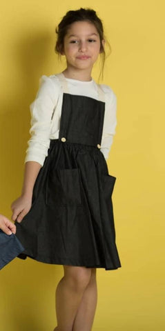 Overall Flare Dress Black