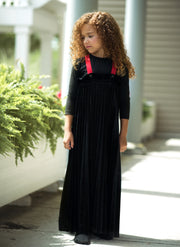 Accordion Pleated Velour Robe