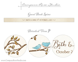 Bluebird Fall & Winter Guest Book