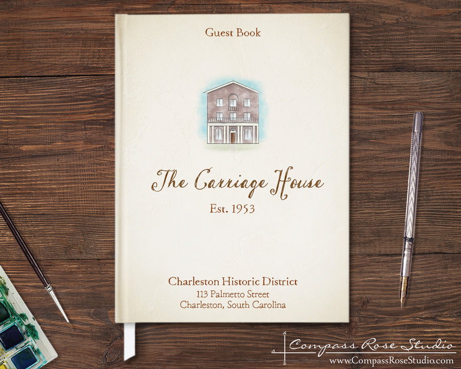 House Illustration Guest Book & Art Print
