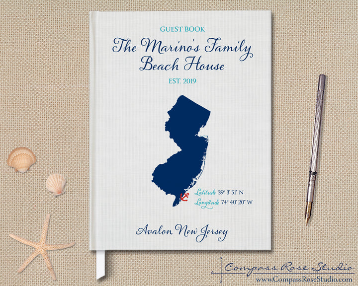 Custom Map Guest Book