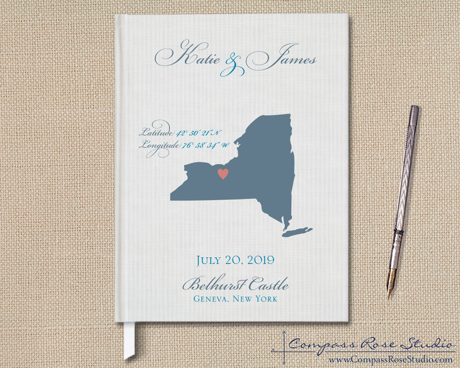 Wedding Map Guest Book