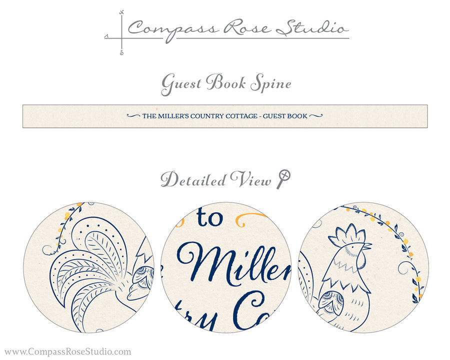 Rustic Rooster Guest Book
