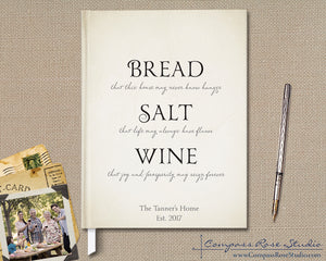Bread Salt Wine Guest Book
