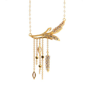 Glamorous long gold wheat chain