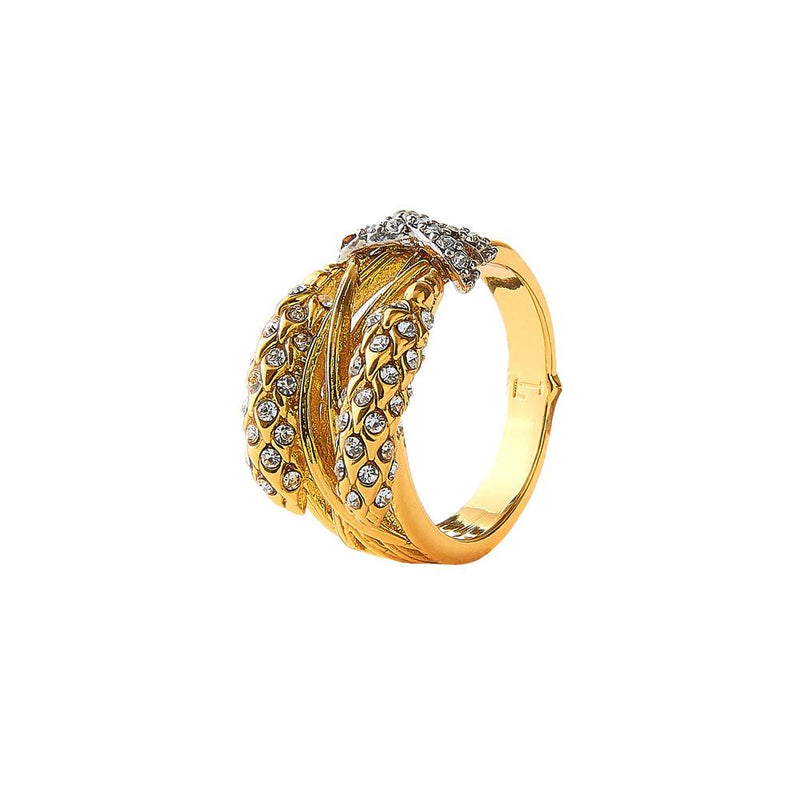 Wheat Cocktail Gold Ring