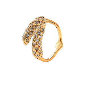 Adjustable Wheat Motif Ring
