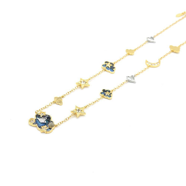 Love Is Beautiful Night Sky Station Gold Necklace