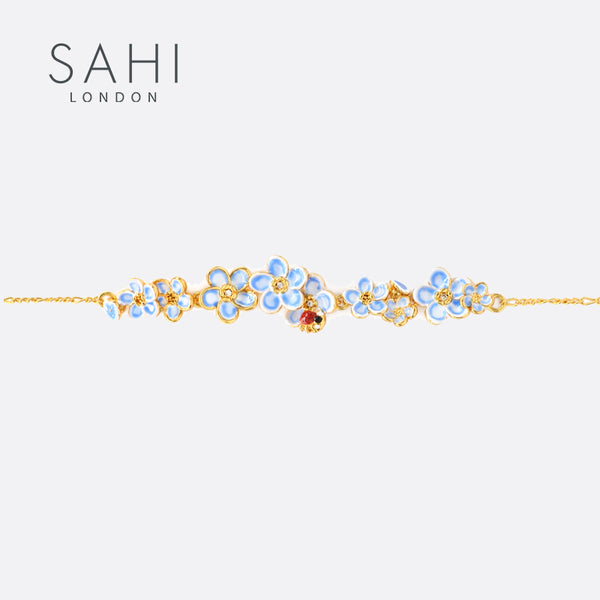 SAHI London Women's Thumblina Necklace 18k Gold/Enamel