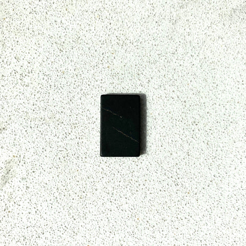 Karelian Shungite Non-polished Rectangular Phone Plate 15 x 25 mm