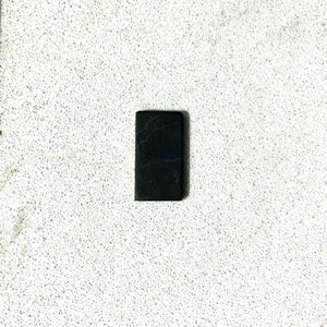 Karelian Shungite Non-polished Rectangular Phone Plate 15 x 30 mm