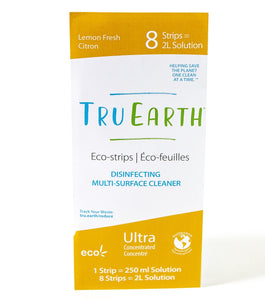Tru Earth Eco-strips Disinfecting Multi-Surface Cleaner (Lemon Fresh) - 8 Strips