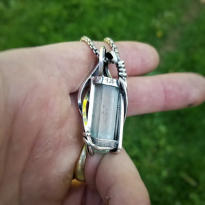 Aquamarine and Silver Pendant | B. Harju Jewelry
