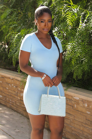 THE PLAIN JANE DRESS - BABY BLUE