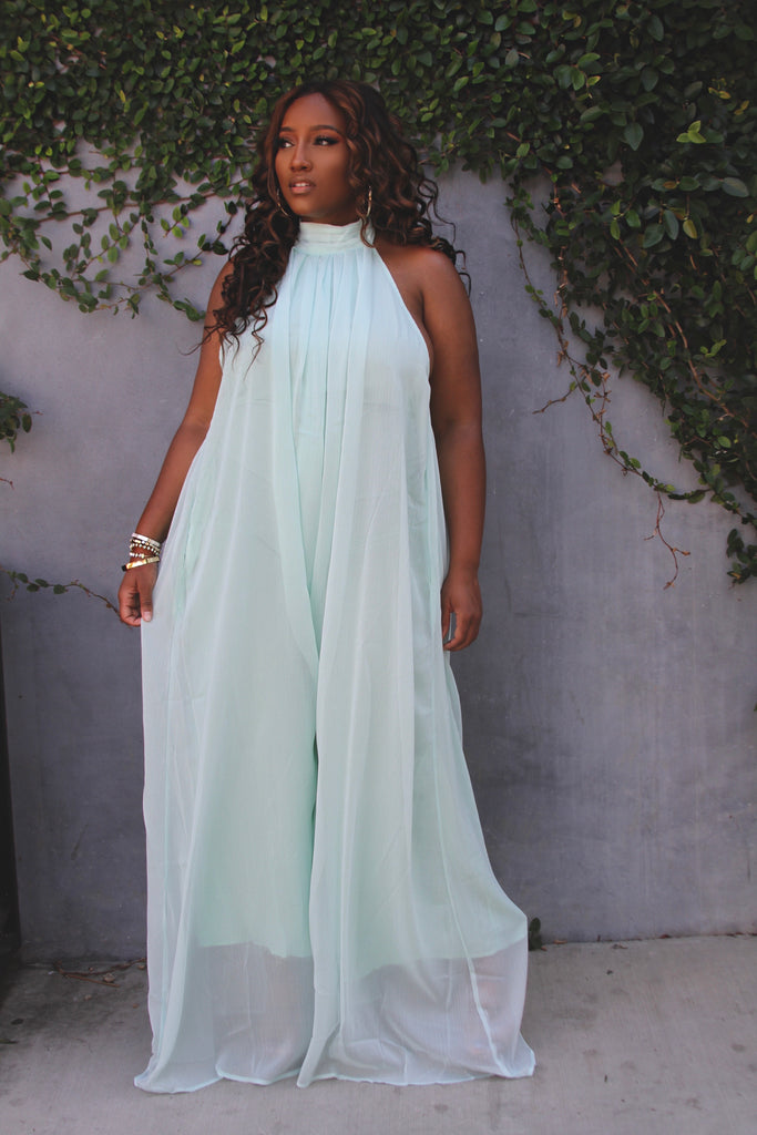 THE OH SO DREAMY JUMPSUIT- SOFT MINT