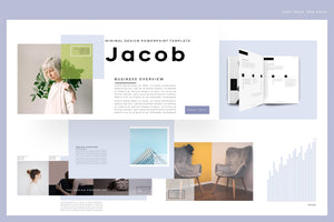Jacob Minimalism Design PowerPoint template Main Title