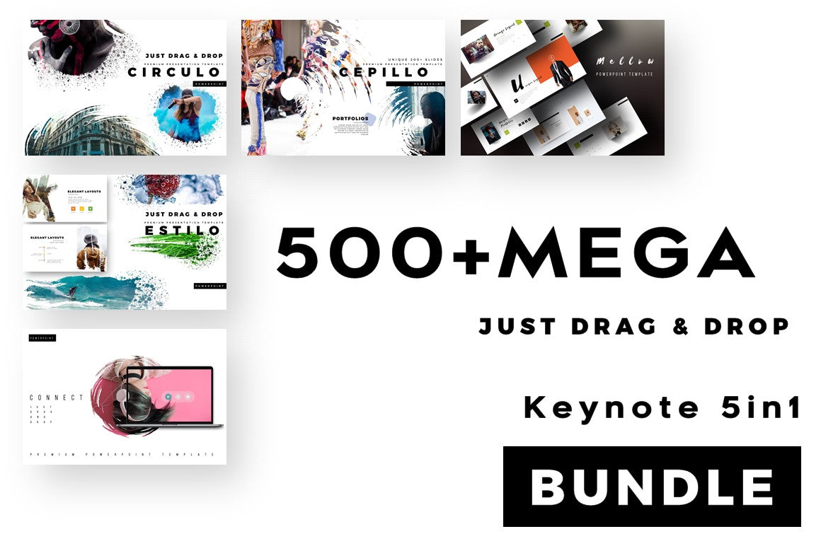 500 Mega 5 in 1 Splash Keynote Bundle