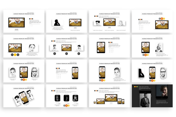Human Dynamic PowerPoint Template