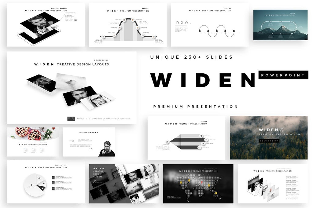 widen professional powerpoint template slidebe