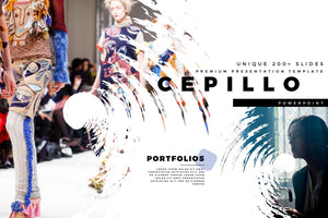 CEPILLO Brush effect PowerPoint Template