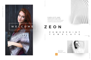 ZEON Startup Pitch Deck PowerPoint Template