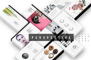 Perspective 3D Screen Mockup PowerPoint Template