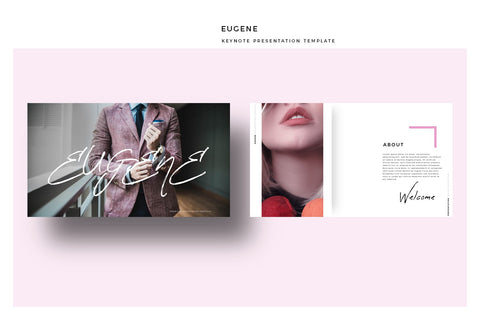 EUGENE Pink Color Keynote Template