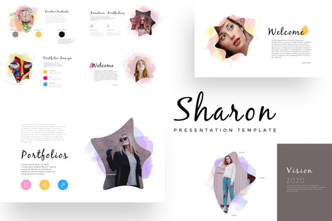 Sharon Education Watercolor Keynote Template