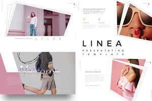 LINEA Fashion Lookbook Keynote Template