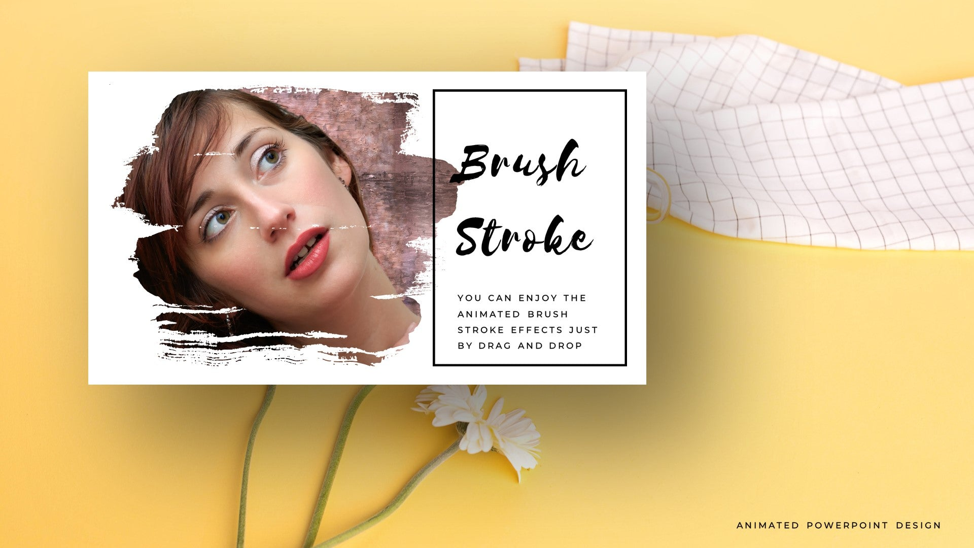Animated Brush Stroke Effects PowerPoint  Design