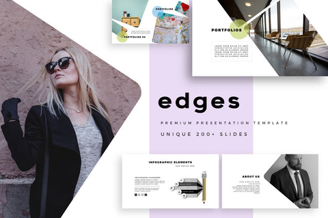 Edges Fashionable PowerPoint Template